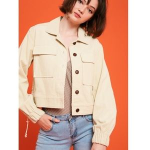 Listicle Corduroy Jacket Button Down Lace Up